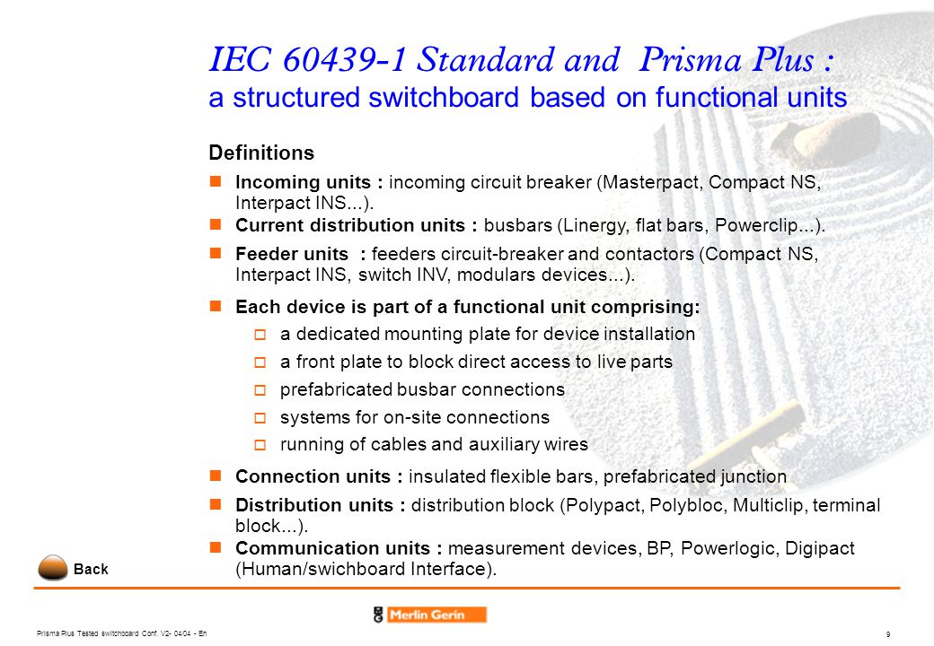 Prisma Plus Tested switchboard Conf.
