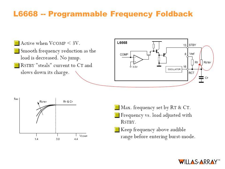 L6668 -- Programmable Frequency Foldback