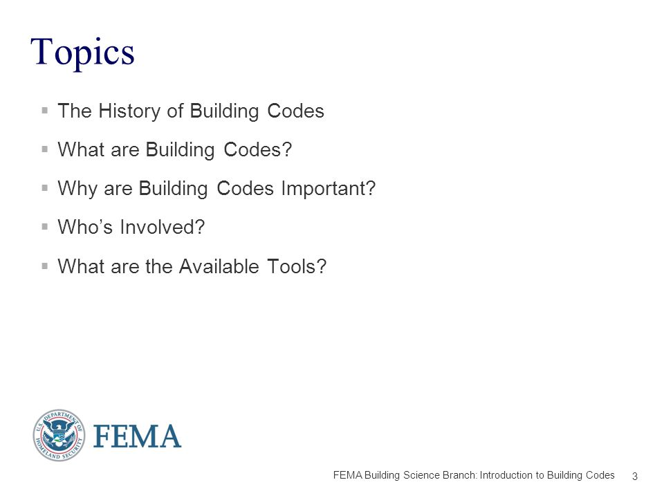 Topics  The History of Building Codes  What are Building Codes.