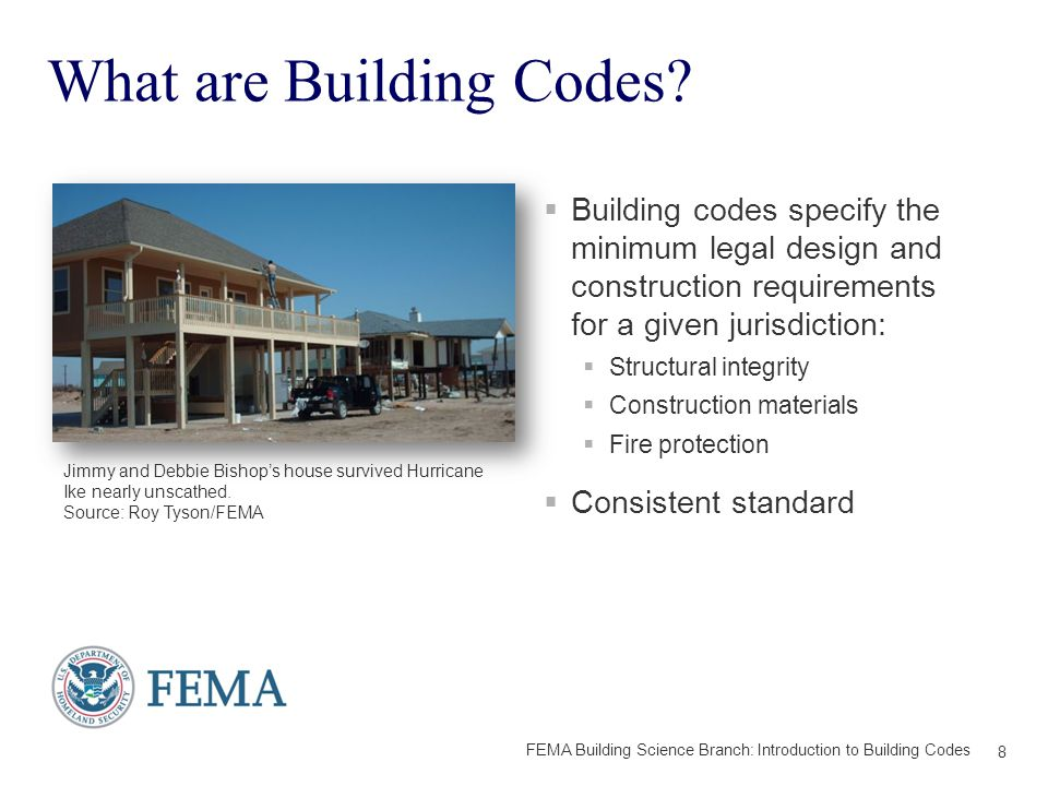 WHAT TOOLS ARE AVAILABLE? 29 FEMA Building Science Branch: Introduction to Building Codes