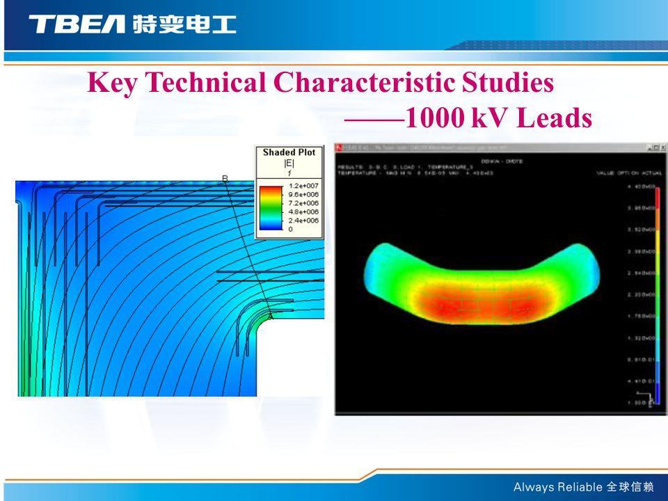 Key Technical Characteristic Studies ——1000 kV Leads