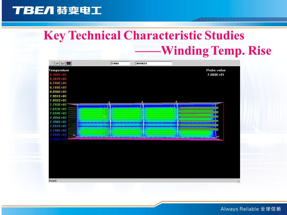 Key Technical Characteristic Studies ——Winding Temp. Rise