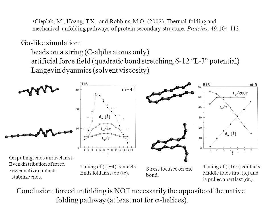 Cieplak, M., Hoang, T.X., and Robbins, M.O. (2002).