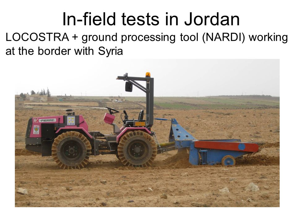 LOCOSTRA + ground processing tool (NARDI) working at the border with Syria In-field tests in Jordan