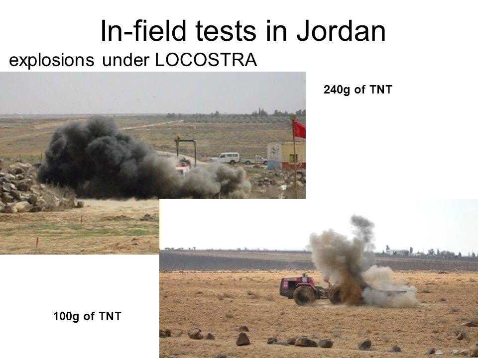 explosions under LOCOSTRA In-field tests in Jordan 240g of TNT 100g of TNT