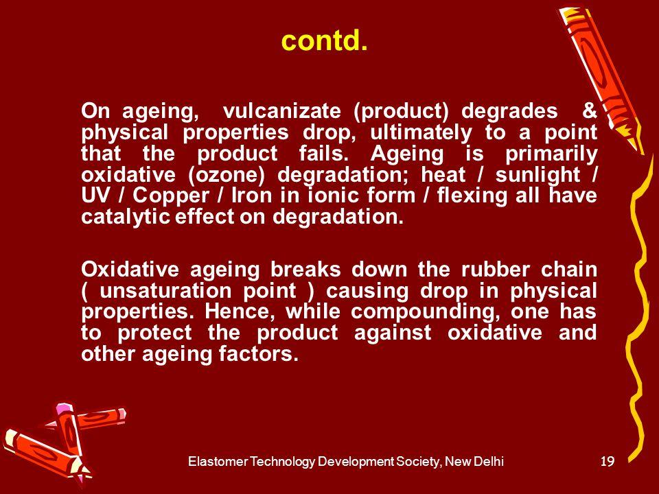 Elastomer Technology Development Society, New Delhi20 Ageing Mechanism.