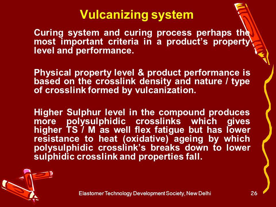 Elastomer Technology Development Society, New Delhi27 Stages of Vulcanization 1.