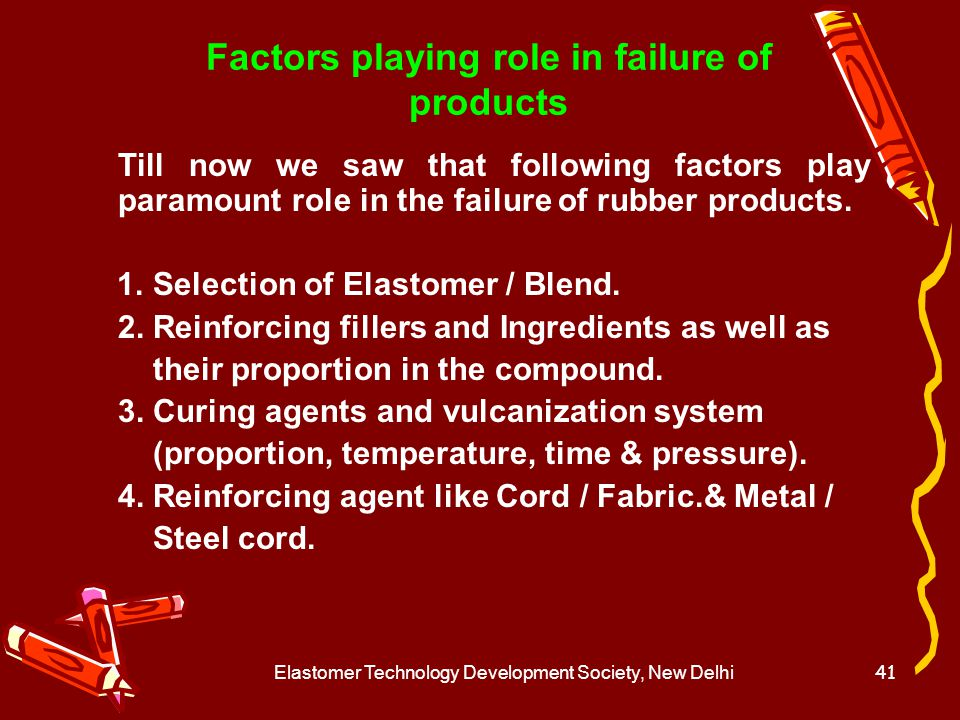 Elastomer Technology Development Society, New Delhi42 Composite Products 1.