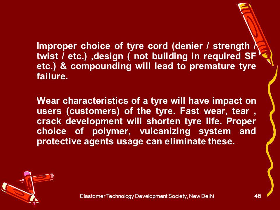 Elastomer Technology Development Society, New Delhi46 Conveyor Belt