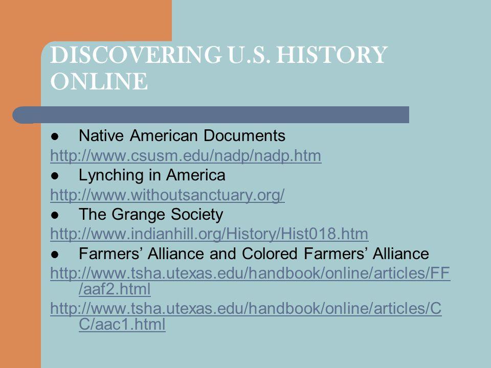 DISCOVERING U.S.