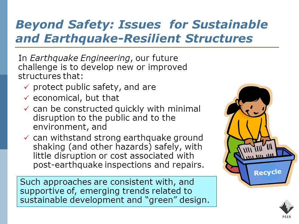 Resilient structures, networks and communities Sheltering in Place vs. Damage Free