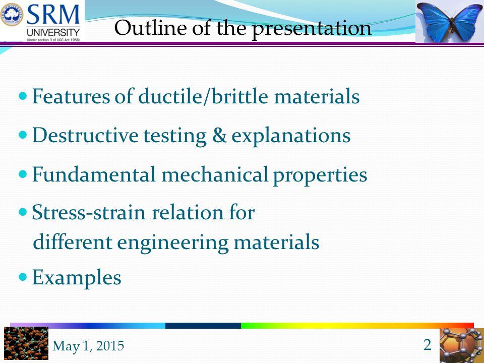 May 1, 2015 1 Dr. Alagiriswamy A A, (M.Sc, PhD, PDF) Asst. Professor (Sr. Grade), Dept. of Physics, SRM-University, Kattankulathur campus, Chennai UNI