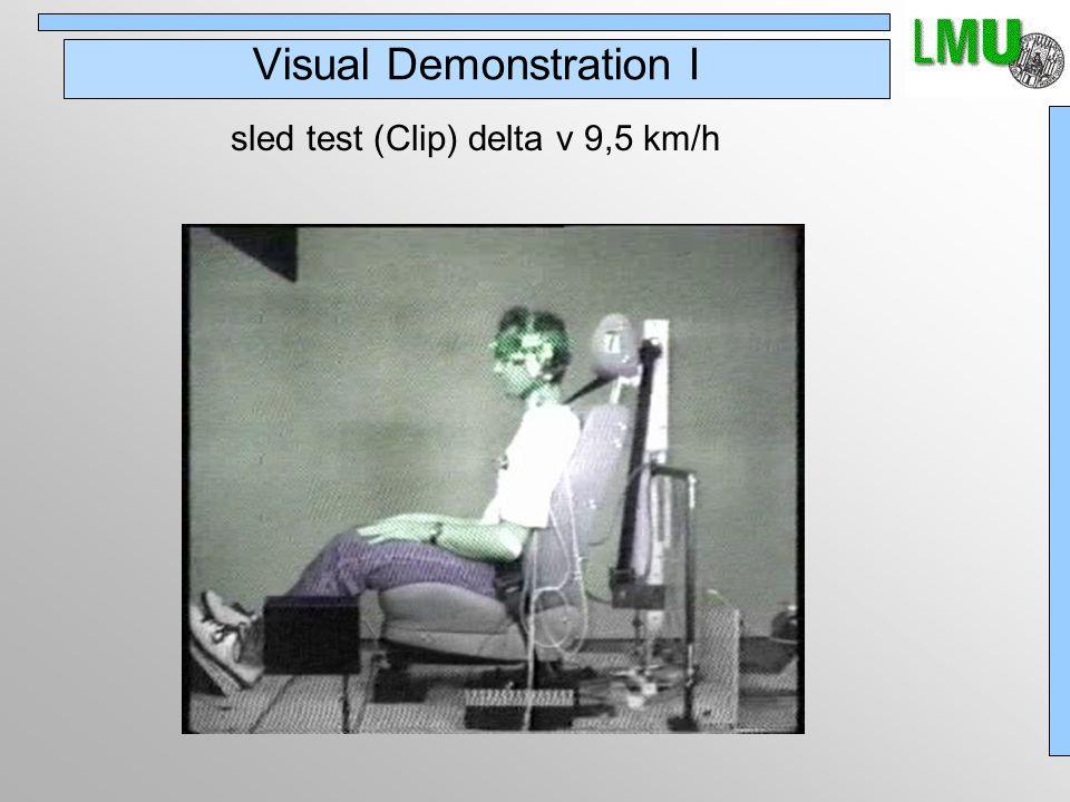 Visual Demonstration I sled test (Clip) delta v 9,5 km/h