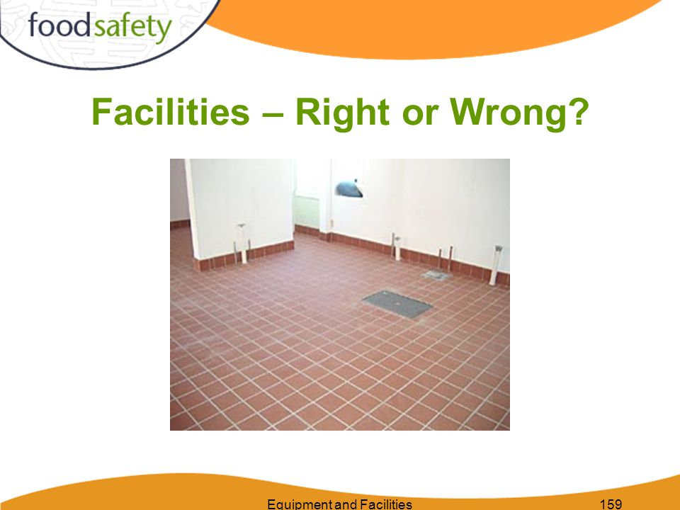 Equipment and Facilities159 Facilities – Right or Wrong