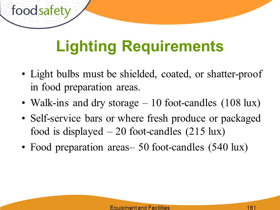 Equipment and Facilities162 Lighting – Right or Wrong?