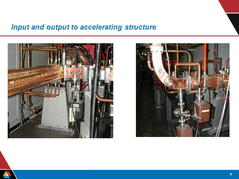 9 Input and output to accelerating structure