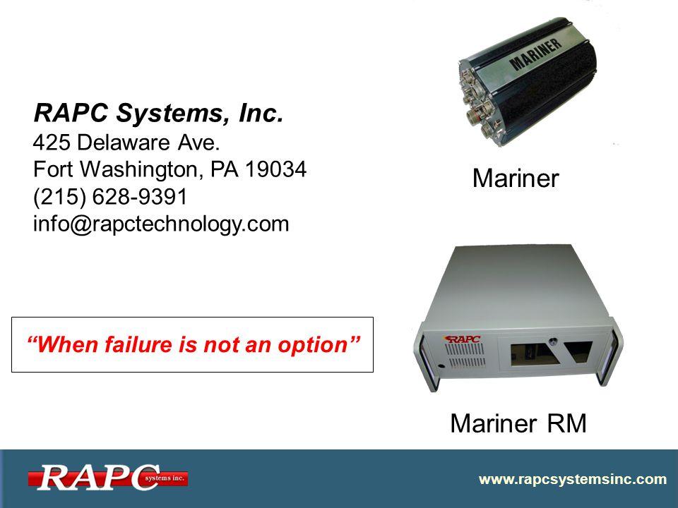 www.rapcsystemsinc.com RAPC Systems, Inc. 425 Delaware Ave.