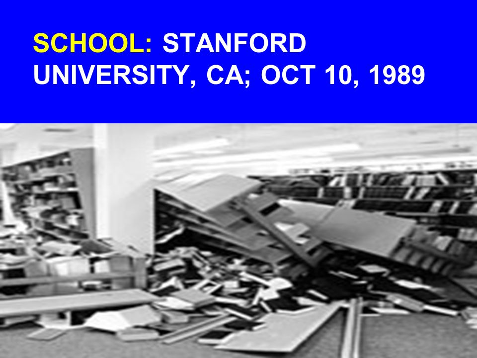 SCHOOL: STANFORD UNIVERSITY, CA; OCT 10, 1989