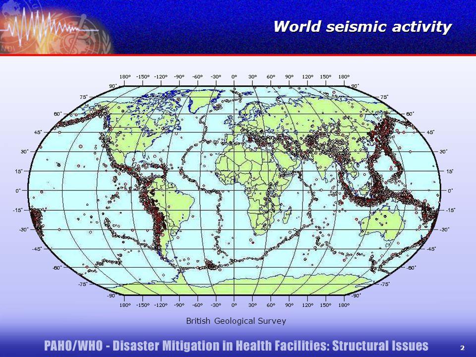 2 World seismic activity British Geological Survey 2