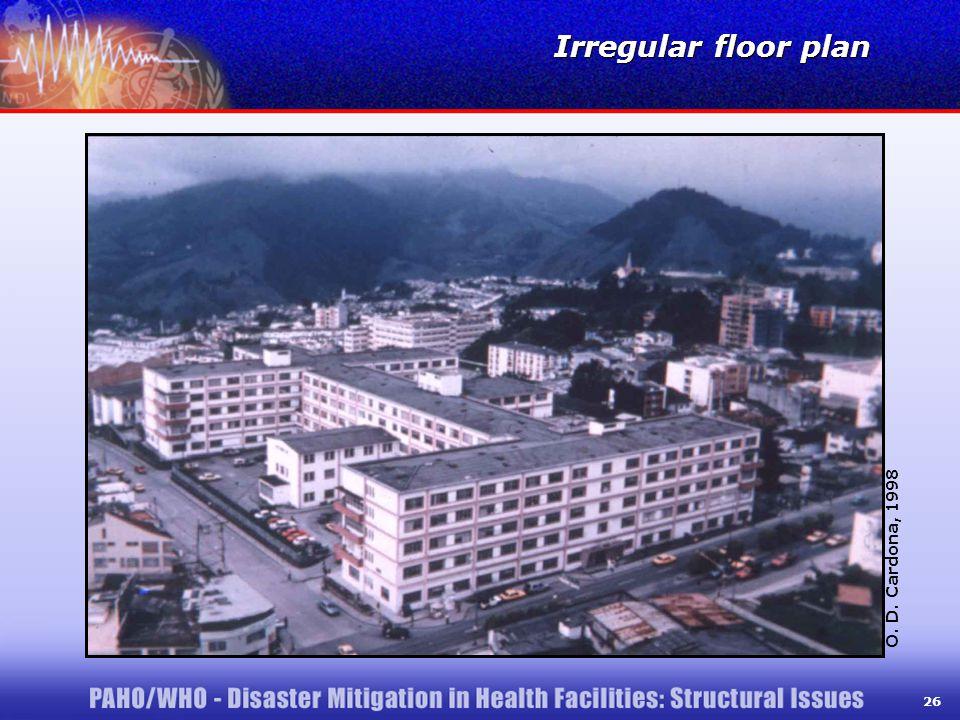 26 Irregular floor plan O. D. Cardona, 1998