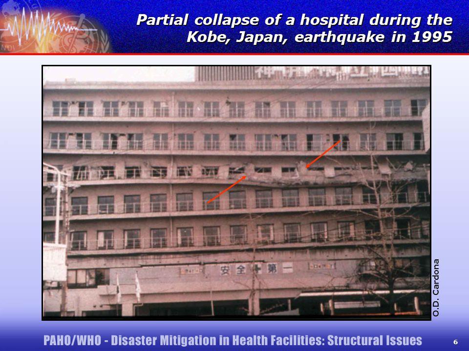 6 Partial collapse of a hospital during the Kobe, Japan, earthquake in 1995 O.D. Cardona