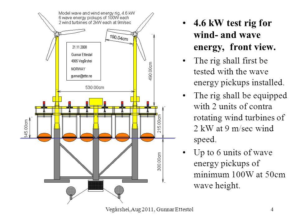 Vegårshei,Aug 2011, Gunnar Ettestøl5 Deck for 4.6 kW wind and wave energy rig.