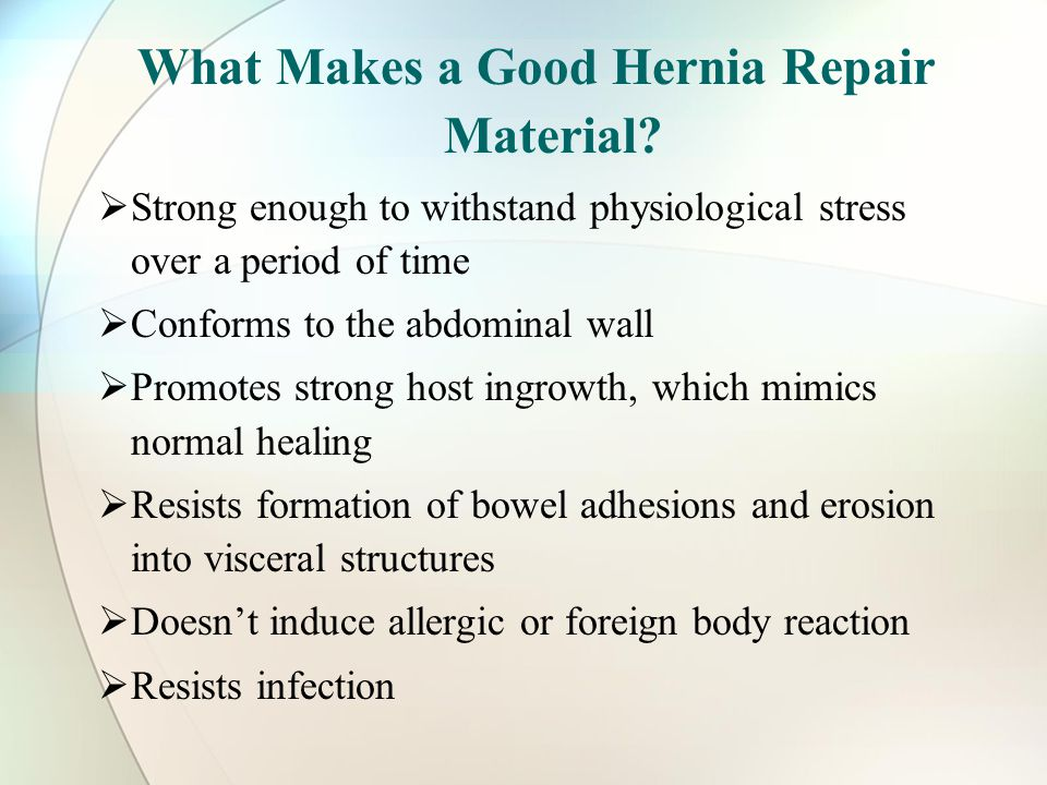 What Makes a Good Hernia Repair Material.