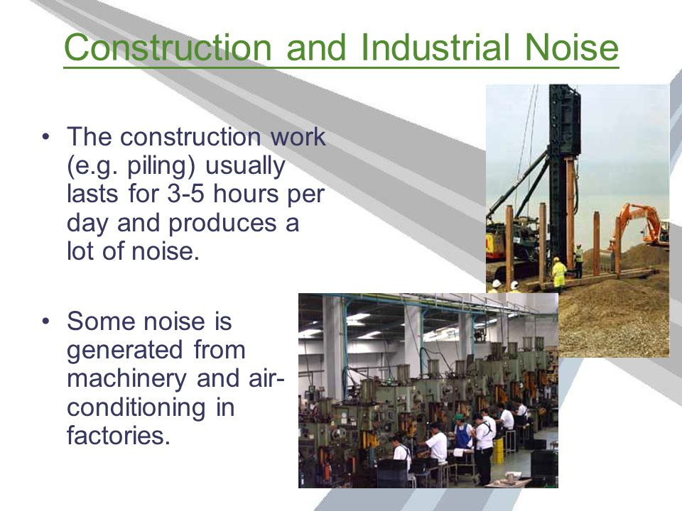 Traffic Noise Noise is given off from the engines or horns of vehicles like buses and cars.