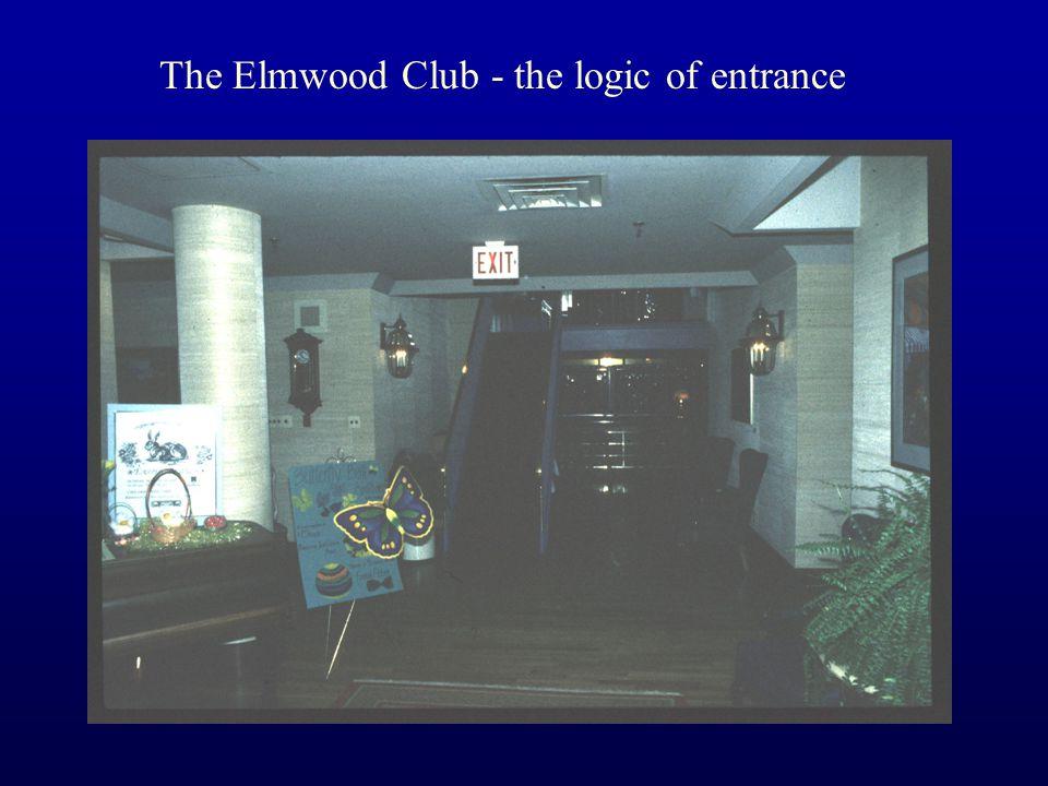 The Elmwood Club - the logic of entrance