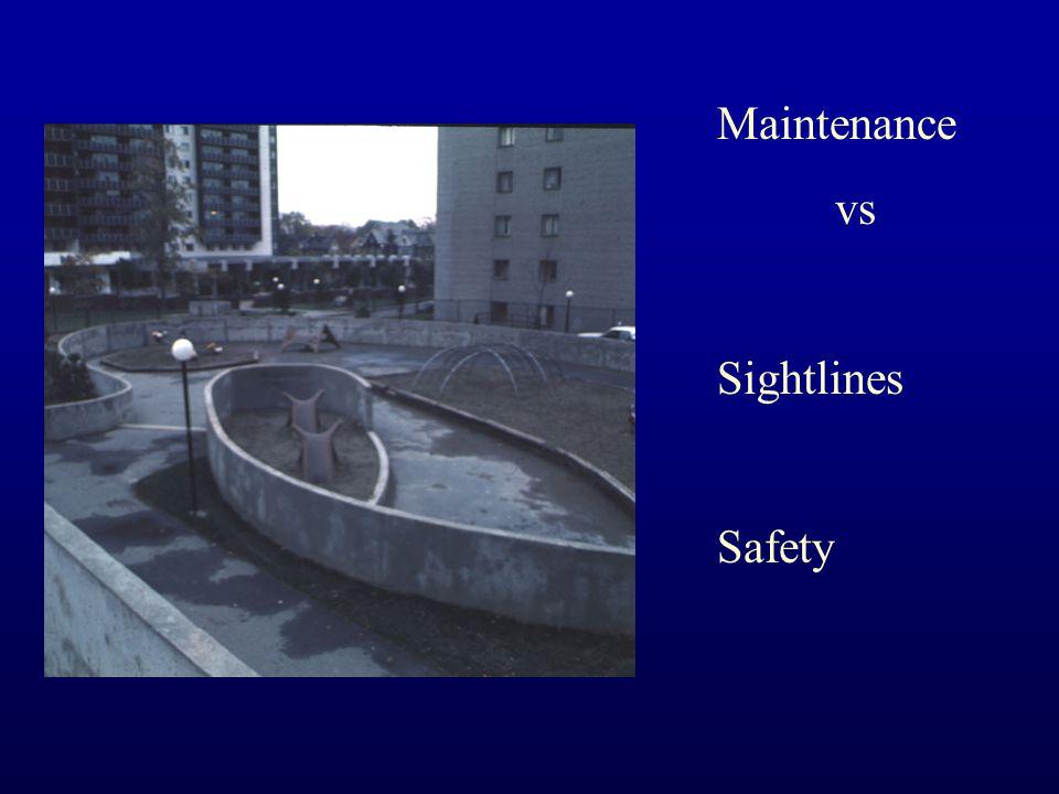 Maintenance vs Sightlines Safety