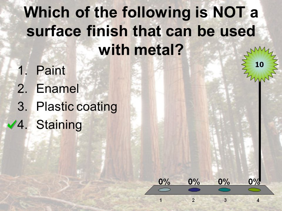 Which of the following is NOT a surface finish that can be used with metal.