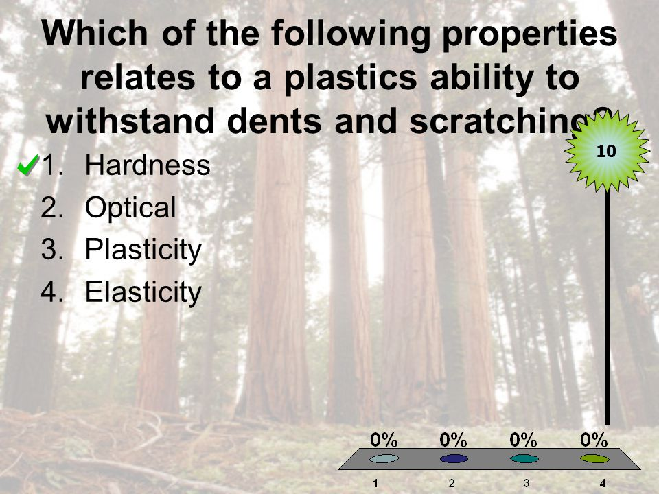 Which of the following properties relates to a plastics ability to withstand dents and scratching.
