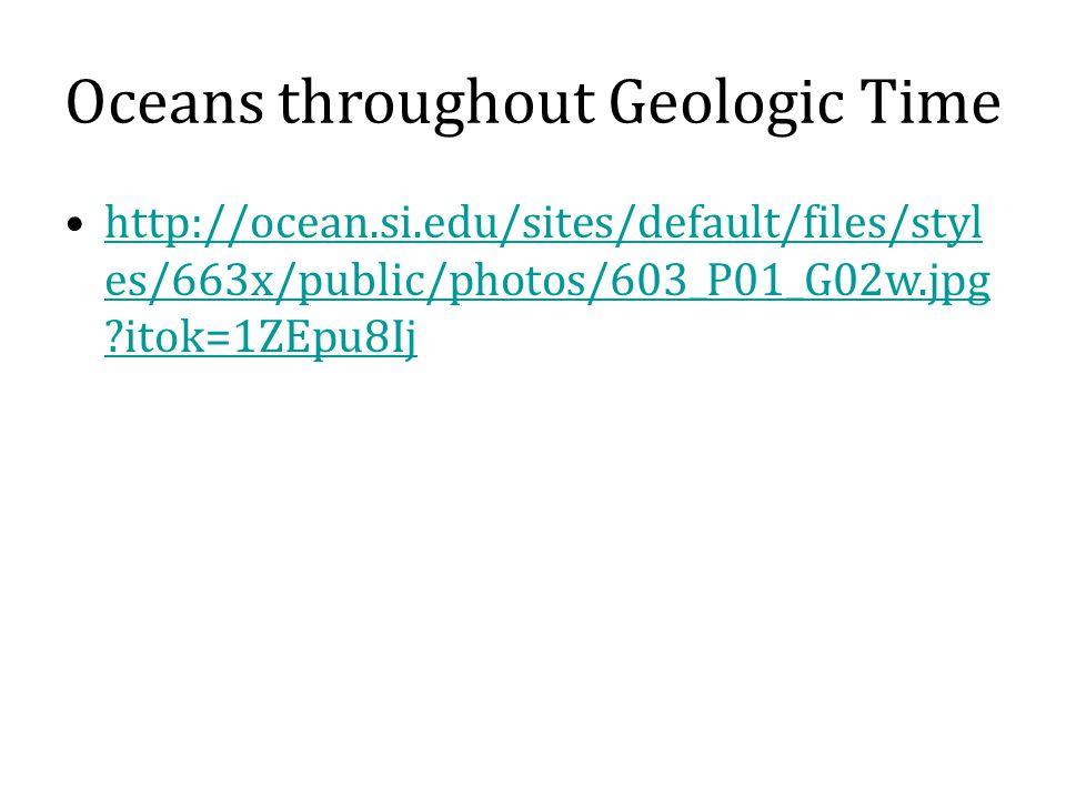 Oceans throughout Geologic Time http://ocean.si.edu/sites/default/files/styl es/663x/public/photos/603_P01_G02w.jpg itok=1ZEpu8Ijhttp://ocean.si.edu/sites/default/files/styl es/663x/public/photos/603_P01_G02w.jpg itok=1ZEpu8Ij