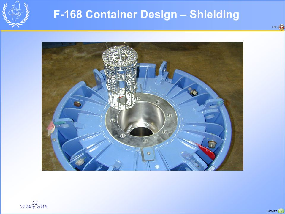 01 May 2015 Contents END 31 F-168 Container Design – Shielding