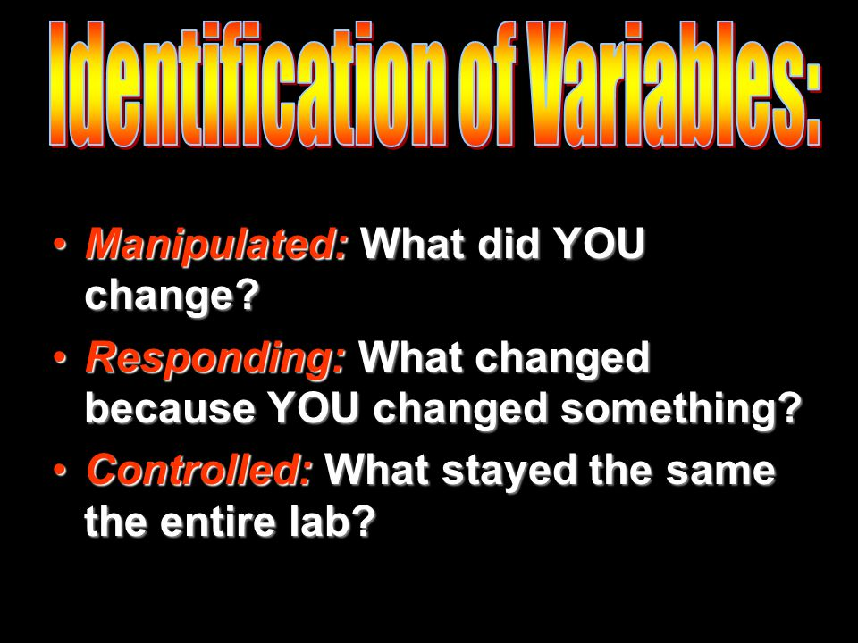 Manipulated: What did YOU change Manipulated: What did YOU change.