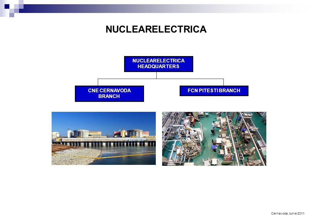 Cernavoda, Iunie 2011 NUCLEARELECTRICA NUCLEARELECTRICA HEADQUARTERS CNE CERNAVODA BRANCH FCN PITESTI BRANCH