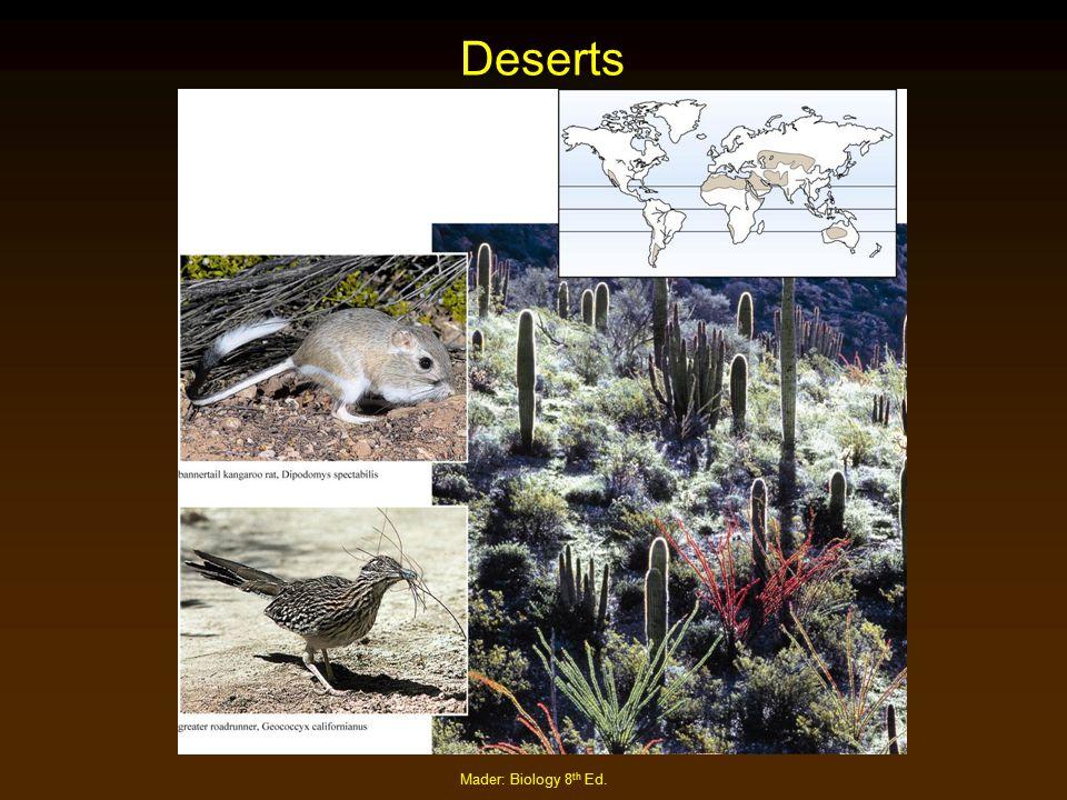 Mader: Biology 8 th Ed. Deserts