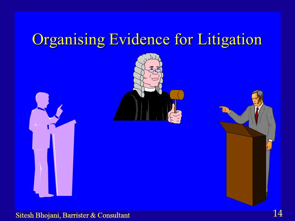 14 Sitesh Bhojani, Barrister & Consultant Organising Evidence for Litigation