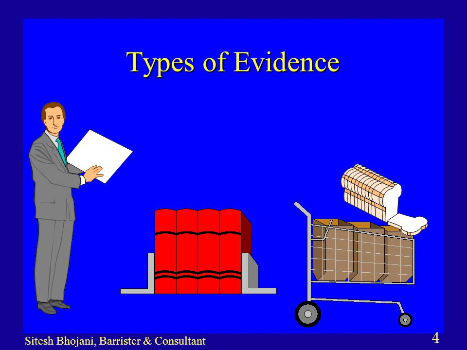 5 Sitesh Bhojani, Barrister & Consultant Types of Evidence continued… n MARKET PLACE EVIDENCE 1.