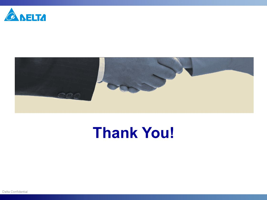 Delta Confidential Thank You!