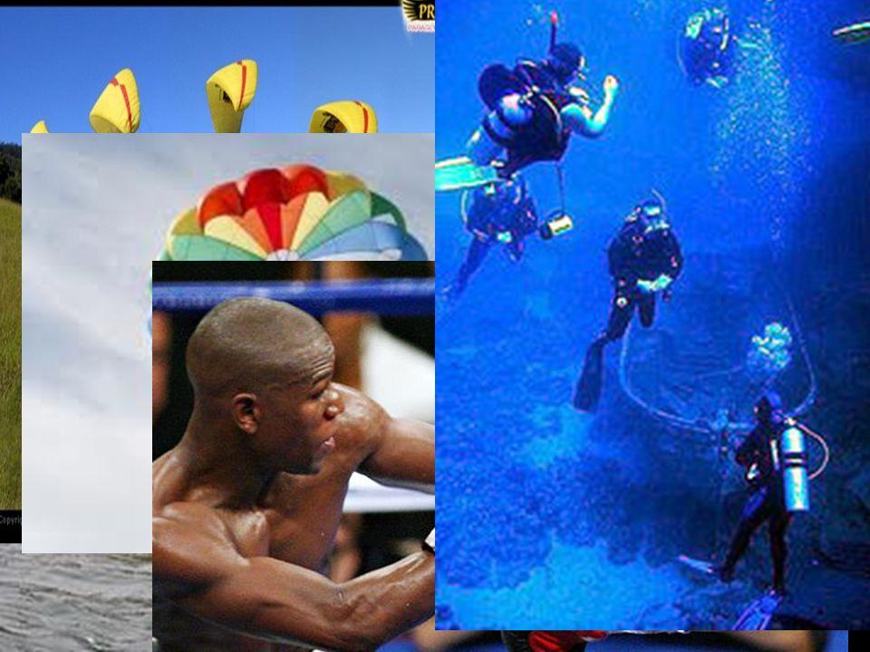 Paragliding Canoe, kayak Boxing ParachutingScuba diving 潛水 飛行傘 拳擊 跳傘 獨木舟, 愛斯基摩小船