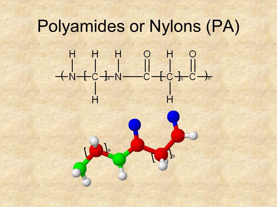 ( ) n [ ] a [ ] b Polyamides or Nylons (PA) [ ] a [ ] b