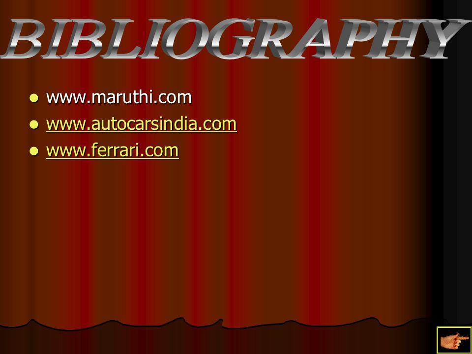 www.maruthi.com www.maruthi.com www.autocarsindia.com www.autocarsindia.com www.autocarsindia.com www.ferrari.com www.ferrari.com www.ferrari.com