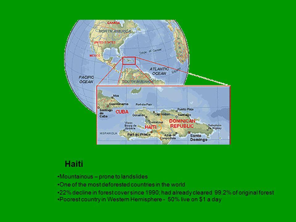 Photograph courtesy NASA/Goddard Space Flight Center Scientific Visualization Studio Left side = Haiti Right side = Dominican Republic