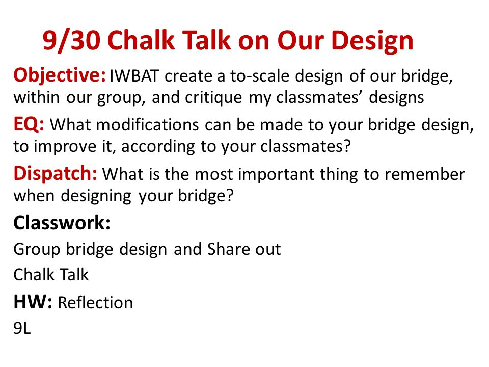 9/11 Objective: IWBAT better understand class expectations and PBL EQ: How will PBL positively or negatively affect you.