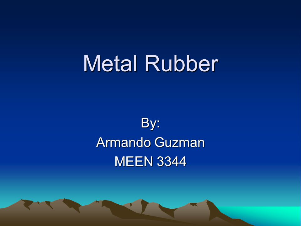Metal Rubber TM is a unique self-assembled nancomposite material that combines the high electrical conductivity of metals with the low mechanical modulus of elastomers.