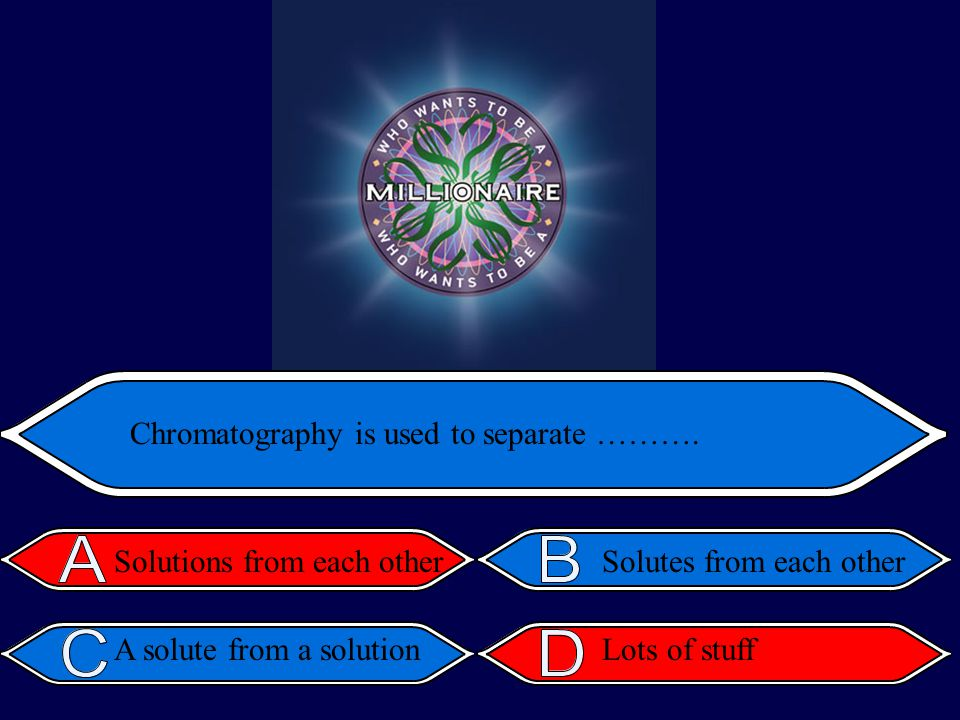 Chromatography is used to separate ……….