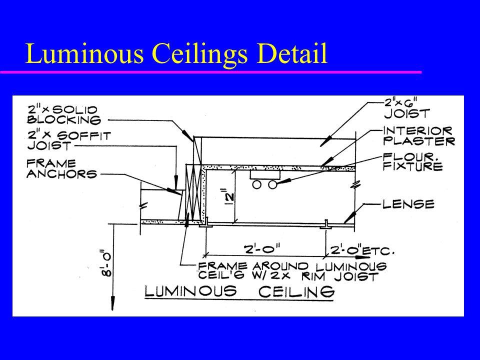 Luminous Ceilings Detail