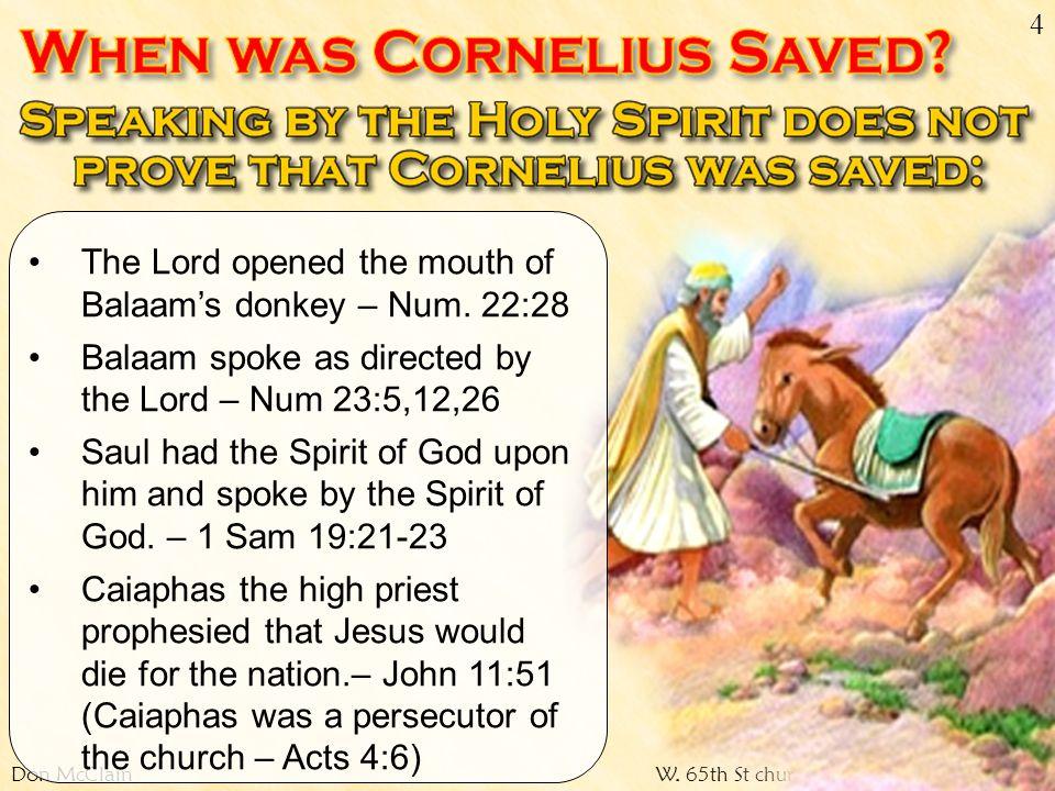 Don McClainW.65th St church of Christ / April 15, 2007 15 Acts 15:7-11 (NKJV) 7....