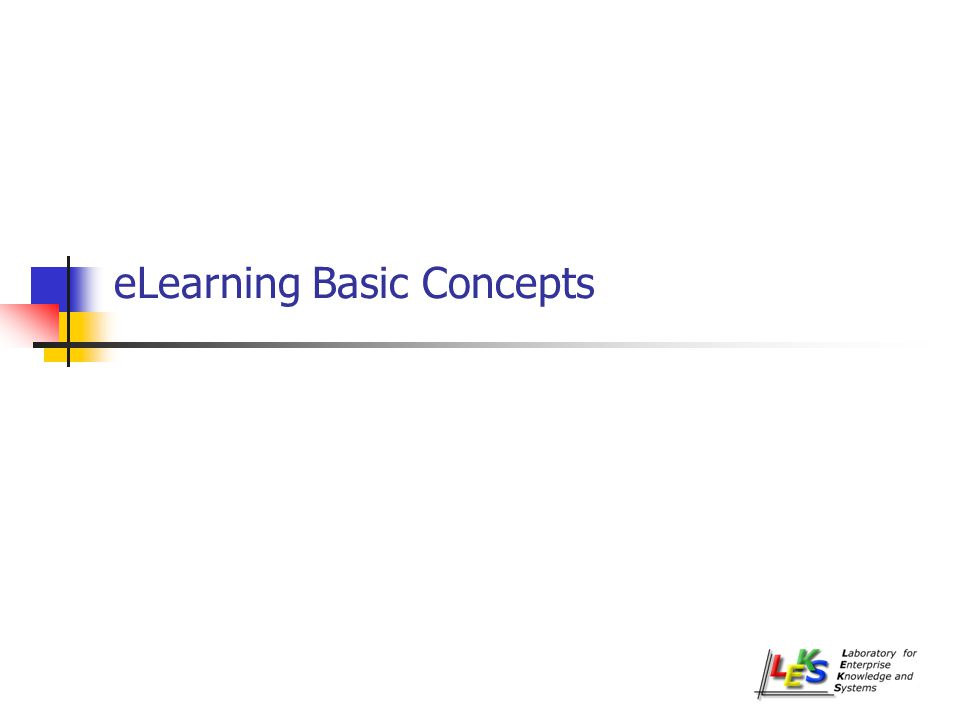 eLearning Basic Concepts